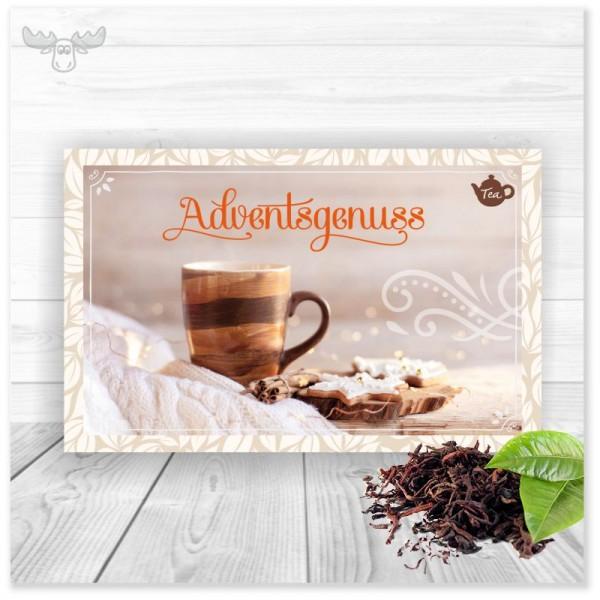 Tee-Weihnachtskarte Adventsgenuss für Ihr Weihnachtsmailing