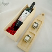 Präsente-Set Tapas mit Wein und Oliven