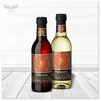 Weihnachts-Glühwein in 0,25l Mini-Flasche: in rot und weiß erhältlich
