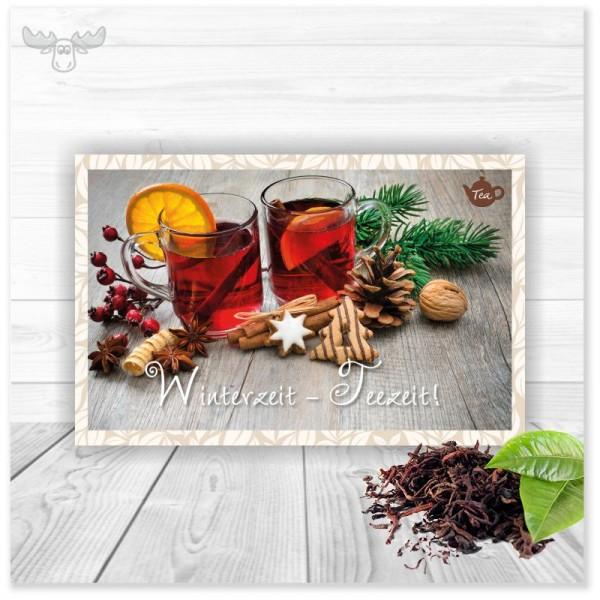 Mailing mit Tee zu Weihnachten | Mailingkarten mit Tee