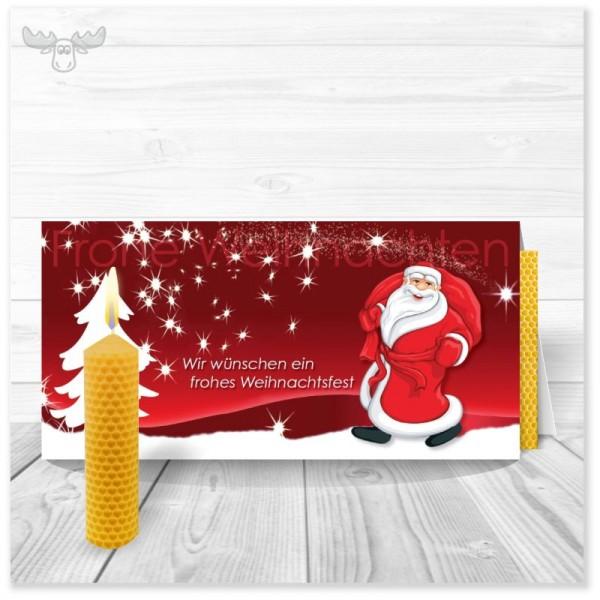 Weihnachtskarten mit Kerze zum Selberdrehen