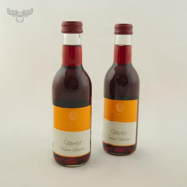 Leckerer Merlot Glühwein in 0,25l Flaschen