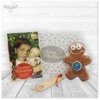 Geschenkset Buch mit Lesezeichen und Lebkuchen