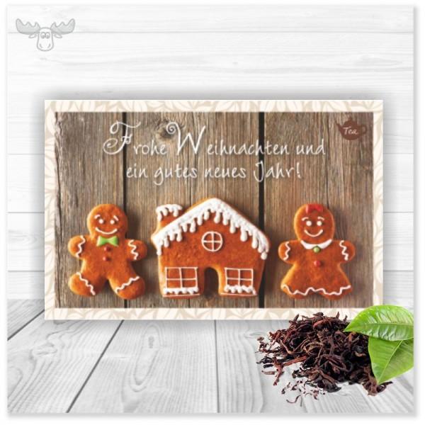 Teekarte Weihnachten (Motiv: Lebkuchen)