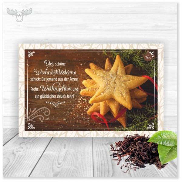 Teekarte Weihnachtssterne für Ihr Weihnachtsmailing an Ihre Kunden