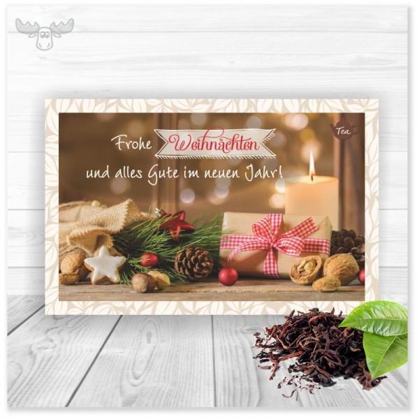 Teekarte Weihnachtspräsente für Weihnachtsgrüße