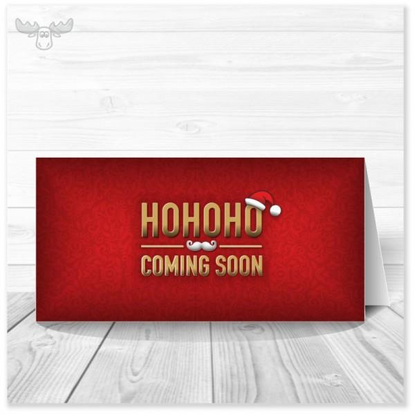 Weihnachtskarte HoHoHo