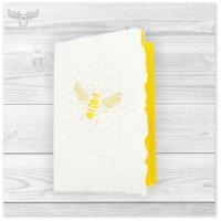 Büttenkarte Biene - nachhaltig und wunderschön