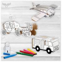 Bastelset Pappe für Kinder - Spielzeug aus Pappe basteln