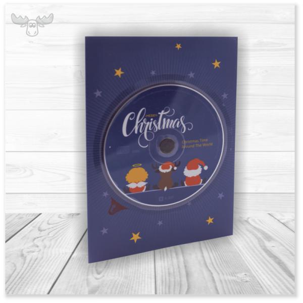 CD-Card - Postkarte mit Weihnachts-CD im Kundendesign