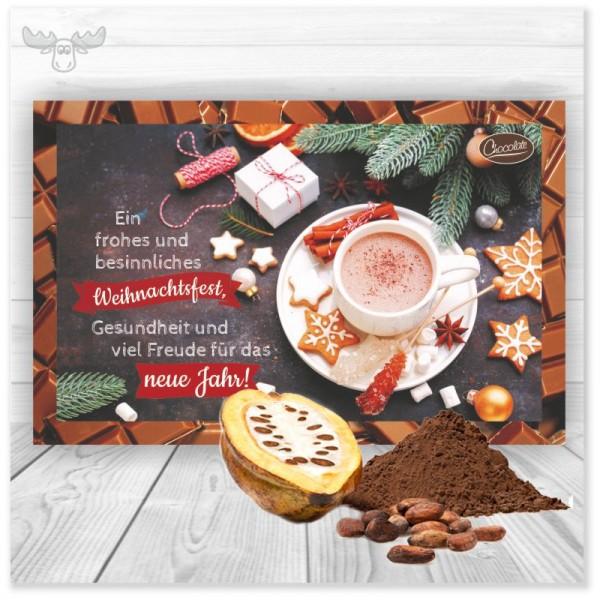 Kakaokarten Weihnachtsfest für den leckeren Gruß an Ihre Kunden