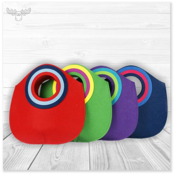 Filztaschen in vielen Formen und Farben