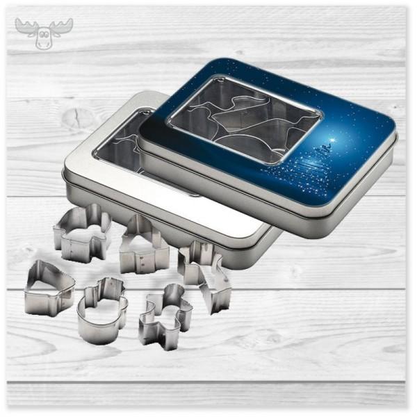 Plätzchen-Ausstecher-Set in Metallbox mit oder ohne Druck online kaufen