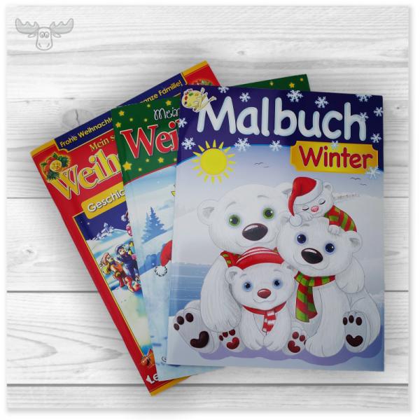 Malbücher & Bastelbücher für Kinder zu Weihnachten & Winter