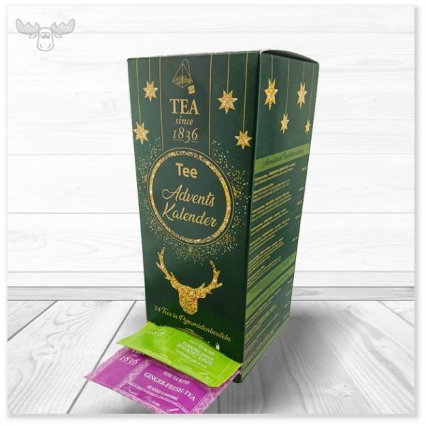 Teebeutel-Adventskalender mit hochwertigem Tee Tower (Teebeutel einzeln Tag für Tag entnehmbar)