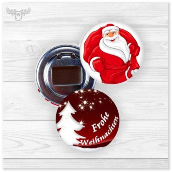 Flaschenöffner Buttonformat | Kleines Weihnachtsgeschenk in verschiedenen Motiven
