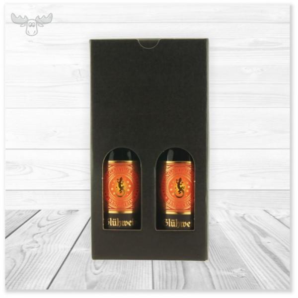 0,5l Glühwein in 2 Piccoloflaschen im Geschenkkarton