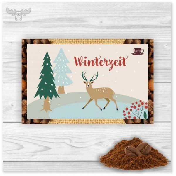 Kaffeekarte Winterzeit