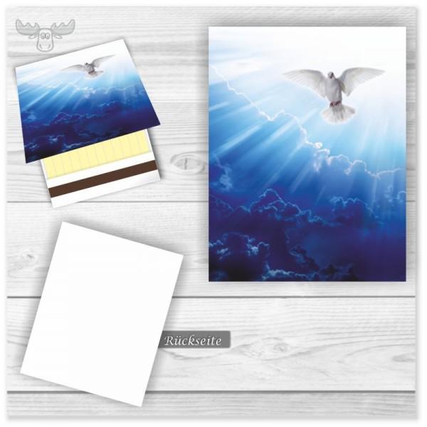 Streichhölzer als Werbeartikel für Business-Kunden mit weißer Taube