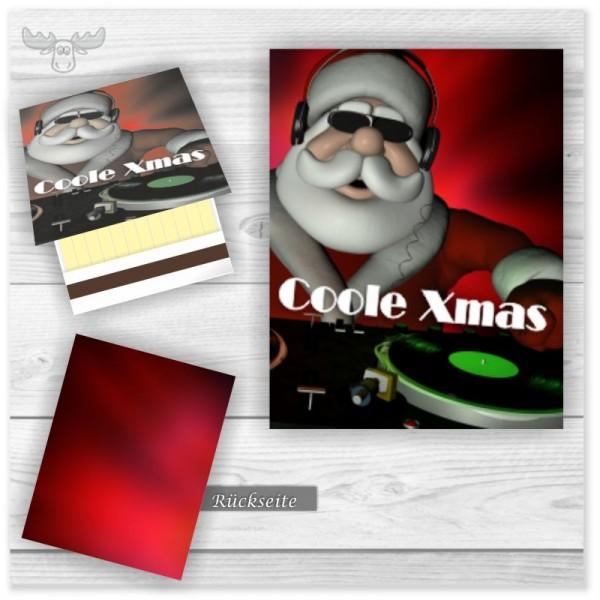 Weihnachts-Giveaways Zündhölzer | Gästepräsente mit DJ Weihnachtsmann - Coole xmas