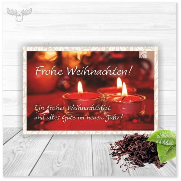 Tee-Karte mit Teelichtern für Ihr Weihnachtsmailing