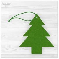 Christbaumschmuck Filz-Anhänger Grüne Tanne für den Weihnachtsbaum