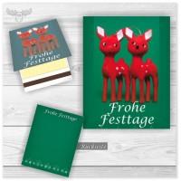 Zündhölzer Werbemittel | Weihnachten Giveaways mit Rehlein - Frohe Festtage