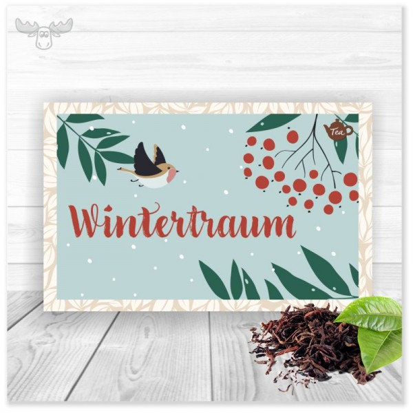 Teekarte Wintertraum für Ihr Weihnachtsmailing