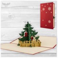 3D Pop-Up Karten zu Weihnachten mit Weihnachtsbaum