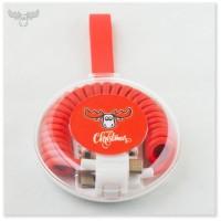 3in1 USB-Ladekabel - Hochwertiger Multi-Lade-Adapter im Travel-Case mit Ihrem Firmenlogo