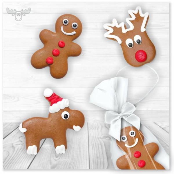 Lustige Lebkuchenfiguren zu Weihnachten im Motive-Mix