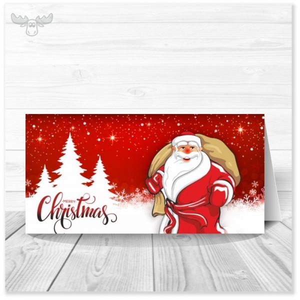 Kunden-Weihnachtskarte Weihnachtsmann online kaufen