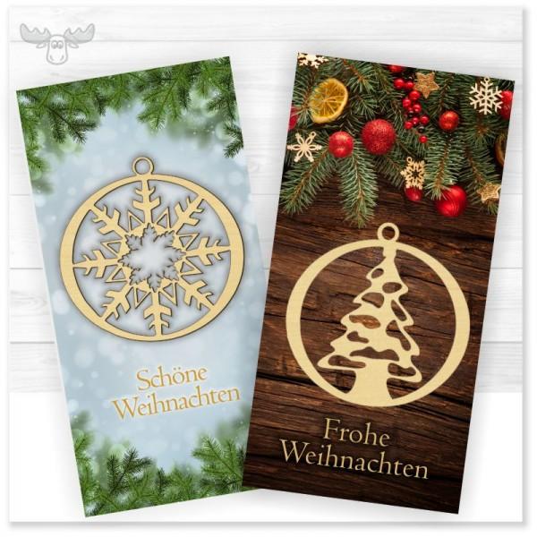 Weihnachtskarte mit Give Away > Weihnachtsbaumanhänger