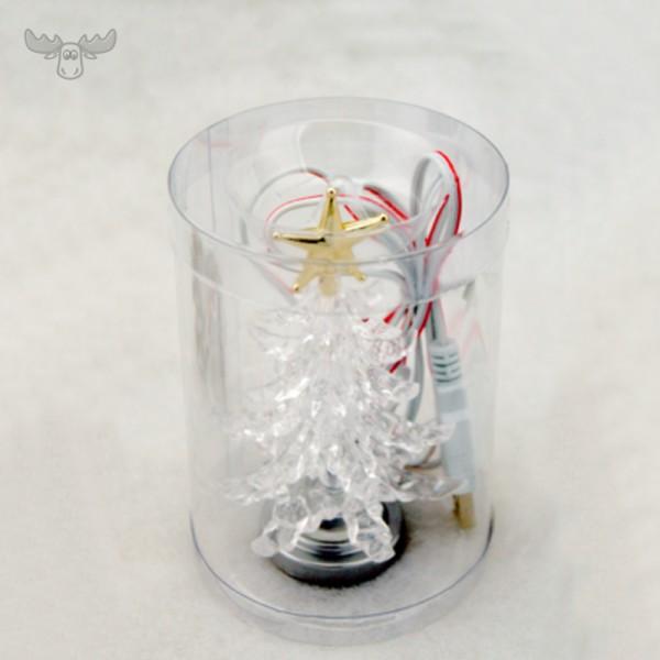 USB-Weihnachtsbaum für den Schreibtisch in Klarsichthülle