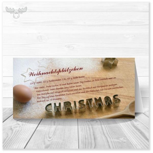 Weihnachtskarte für Kunden mit Plätzchen-Rezept kaufen