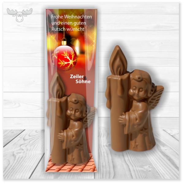 Schokoladen-Engel, Schneemann, Nikolaus & Kerze für Ihre Kunden