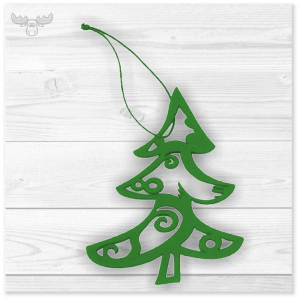 Weihnachtsbaumschmuck Filigran: Elegante Filz-Tanne