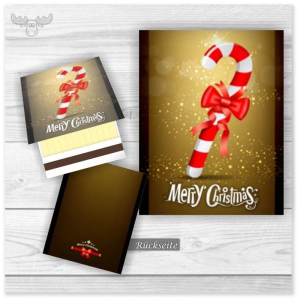 Streichhölzer mit Zuckerstange zu Weihnachten - Merry Christmas