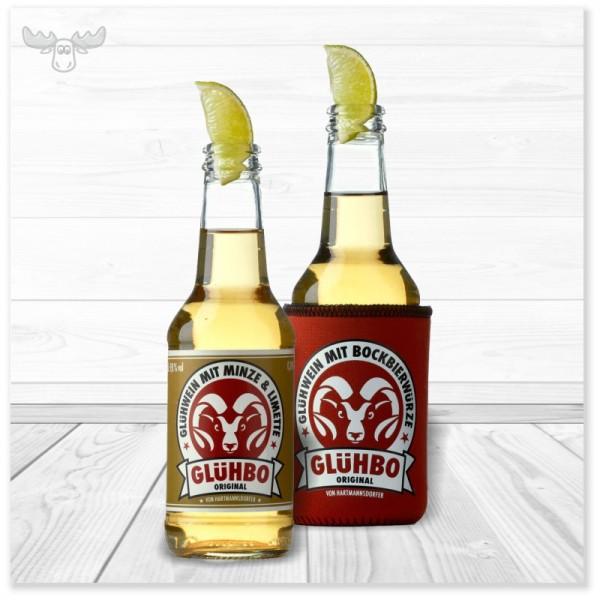 Cooler Sommerdrink für Firmenpartys: Glühbo weiß, der Sommer-Glühwein mit Minze & Limette