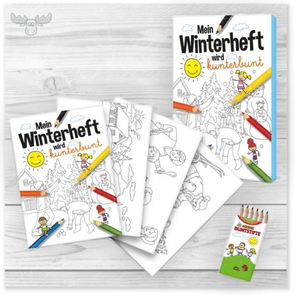 Malbuch für Kinder zu Weihnachten und im Winter