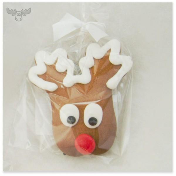 Lustige Lebkuchenfigur Rudolph zu Weihnachten
