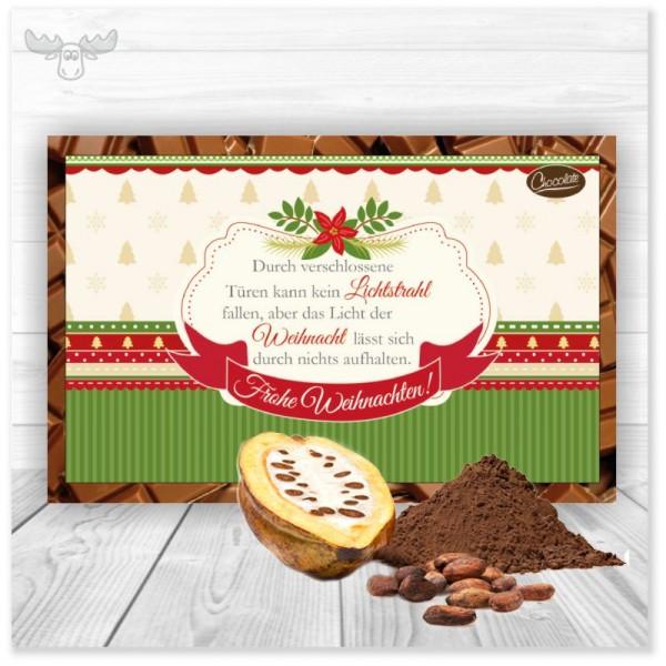 Weihnachtskarte mit Kakao-Pulver für Ihr geschäftliches Weihnachtsmailing