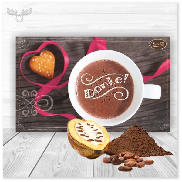 Weihnachtskarte Danke mit Kakao
