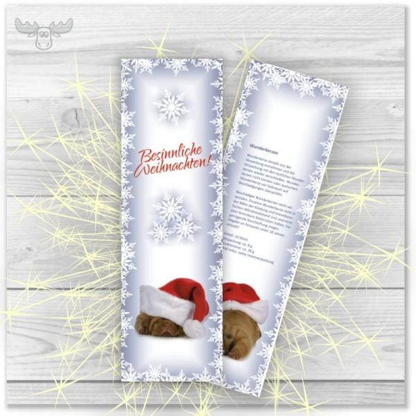 Wunderkerzen in Kartonstecktasche Weihnachtshund - Besinnliche Weihnachten