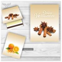 Streichhölzer mit Weihnachtsmotiv Zimt und Orange