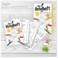 Malbuch Hotel - Heft zum Ausmalen rund um den Hotelbetrieb