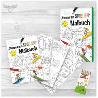 Malbuch Spielen für Kinder als Firmengeschenk