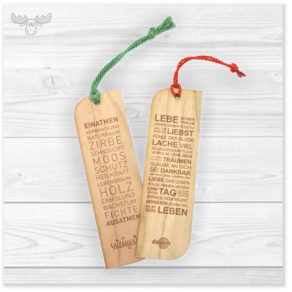 Lesezeichen aus Holz im Kundendesign