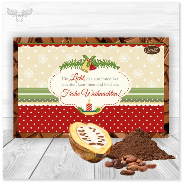 """Kakaokarte """"Ein Licht"""" als Weihnachtsgruß an Ihre Kunden"""