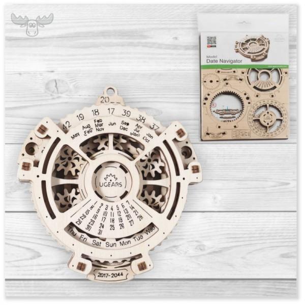 Mechanische 3D Holzpuzzle - hochwertige Kunden-Präsente